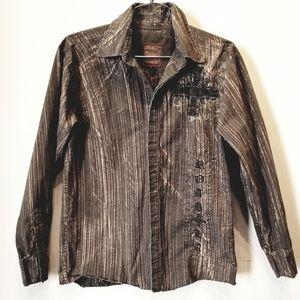 Roar LA Men's Button Long Sleeve Shirt Size